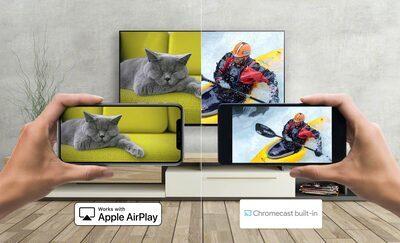 Imagine care arată conținutul proiectat de pe smartphone pe televizor