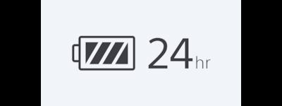 Pictogramă Autonomie a bateriei de 24 de ore