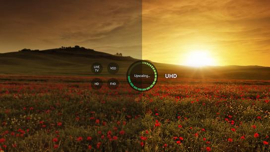 Calitate a imaginii apropiată de cea UHD