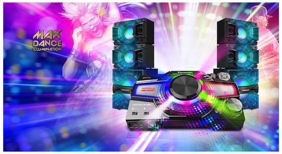 Sistem audio High Power SC-MAX7000E-K, 3000W RMS, Bluetooth, Wi-Fi ...
