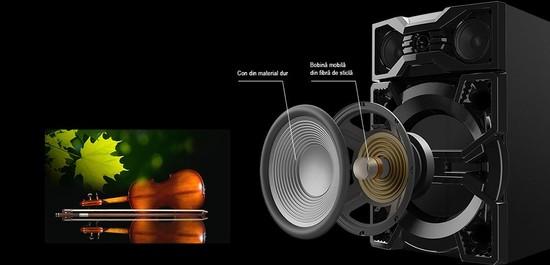 Sistem audio PANASONIC SC-MAX3500EK, 2400W, Bluetooth, USB, CD ...