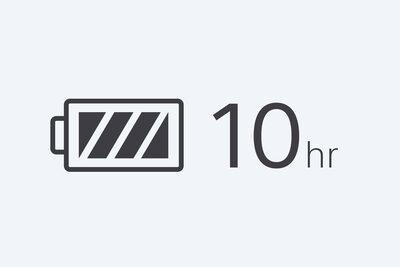 Pictogramă Autonomie a bateriei de 10 ore