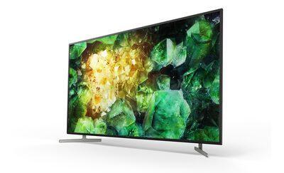 Imagine laterală cu televizorul, prezentând designul bazat pe aluminiu