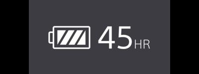 Pictogramă autonomie de 45 de ore a bateriei