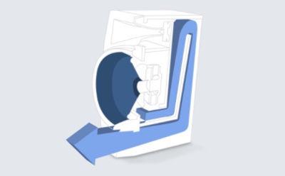 Design de tip cutie verticală pentru un sistem audio wireless pentru acasă cu Bluetooth®