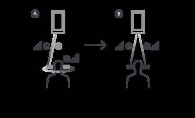 Ilustrație care explică modul în care noul chip Bluetooth transmite sunetul simultan la ambele urechi