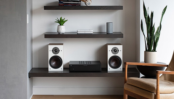 NODE wireless music streamer dali speakers and NAD Amplifier