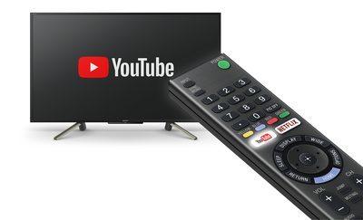 Televizor și telecomandă cu YouTube cu apăsare pe un singur buton